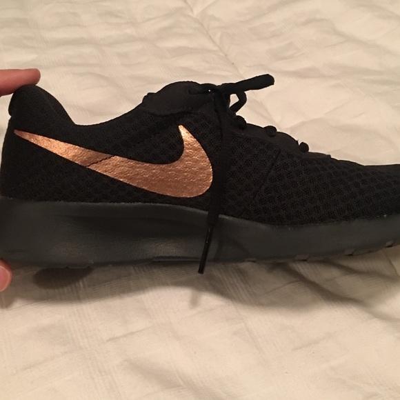 Nike Shoes | Nike Tanjun Black And Gold